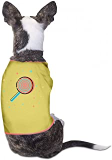 Pet Clothes Christmas Pet Clothes Dog T-Shirts Clothes Merry Christmas Pet Clothing for Small Dogs Kitten Vest Cotton Shirts Soft and Breathable - (Sky Blue, Gray, Yellow, Black)