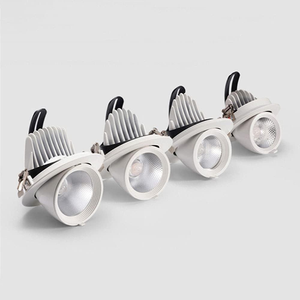 4 Industry No. 1 Pcs Recessed Lighting Fixture Spotlight Ceiling Adjustabl LED OFFicial site