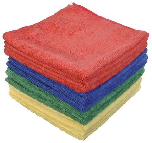 Eurow Microfiber Commercial Towels 16 x 16 300 GSM 12-pack 4 colors by Eurow & O'Reilly Corp.