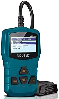 Adoter OBD2 Scanner Enhanced Universal Car Engine Fault Code Reader Battery Test Clear Trouble Code, CAN Diagnostic Scan Tool