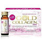 Pure Gold Collagen   The Original #1 Liquid Collagen Supplement   Hydrolyzed Marine Collagen Drink with Hyaluronic Acid, Borage Oil, Vitamins & Minerals For Skin, Hair, Nails   10 Day (Mini Size)