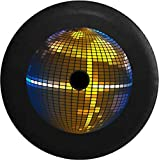 JL Spare Tire CoverFull Color Disco Mirrored Ball - Dance Party with Backup Camera Hole Black 33 in