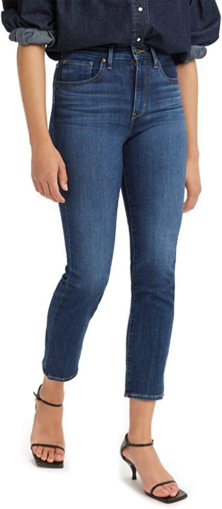 Levi's Women's 724 High Rise Jeans Chelsea Crop Scrape Super intense SALE favorite Straight