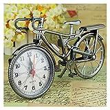 YSCSPQA Despertador Bicicleta Vintage Casa Muebles Motor Bicicleta Ciclo Cuarzo Reloj Despertador Reloj Tiempo Tiempo Recepción Regalo