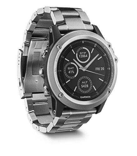 Garmin Fēnix 3 Zafiro - Reloj multideporte de titanio con GPS, correa de titanio