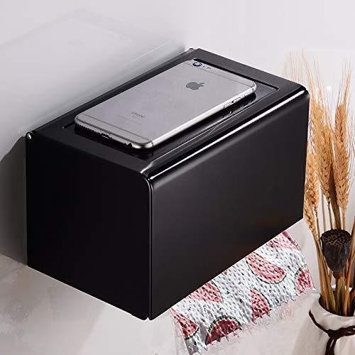 Aishiping toiletrolhouder met houder van zwart papier, creatief, wandmontage