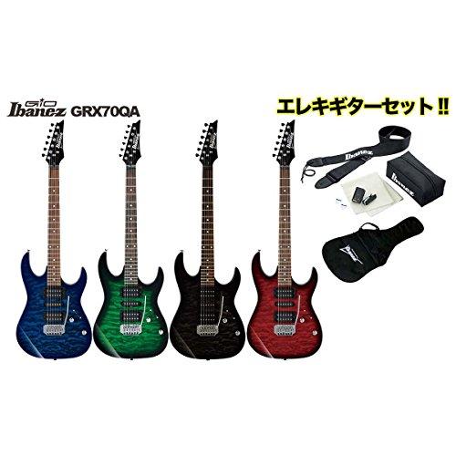 Ibanez/エレキギターセット GIO GRX70QA【アイバニーズ】 (TKS(Transparent Black Sunburst))
