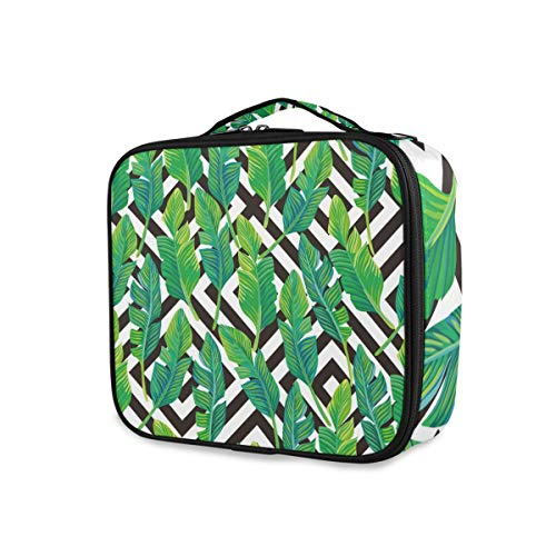 Tropical Leaf Graphic Makeup Bag Travel Tools Cosmetic Train Case Wallet Toiletry Pouch Storage Portable