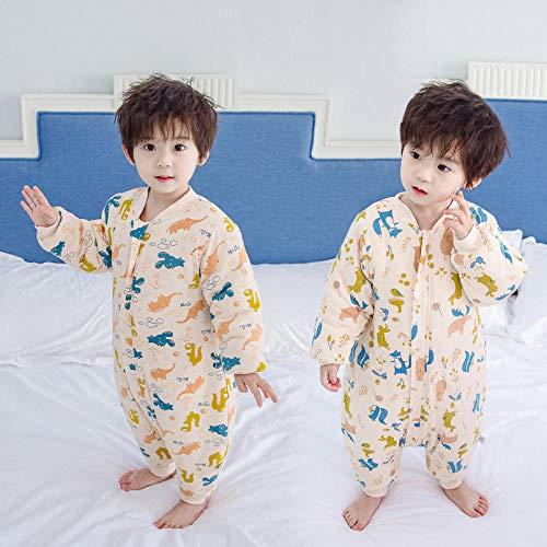 Unisex baby inbakerdekens, kinderen katoenen quilt-dinosaurus konijn kleur cotton_100 yards 2-3 jaar oud, pasgeboren baby dikke warme slaapzak