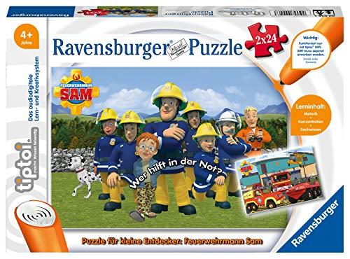 Ravensburger tiptoi 00046 - Puzzle für kleine Entdecker: Feuerwehrmann Sam / 2x24 Teile Puzzle von Ravensburger ab 4 Jahren