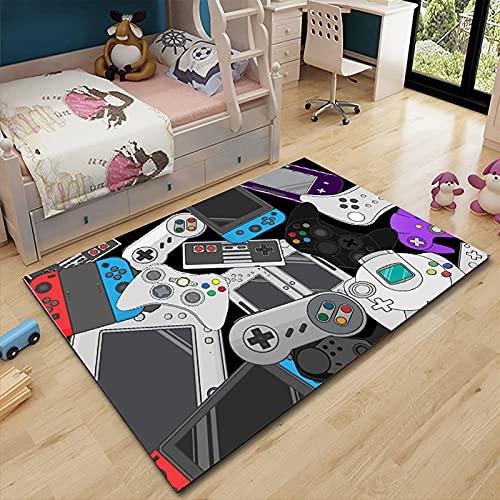 Hengqiyuan Home Game Console Dormitorio Alfombra, Sala De Estar Alfombra Entrada Mat Mat Fácil Y Atmosférico Alfombras Rectangulares para Vivero,A,120x160 cm