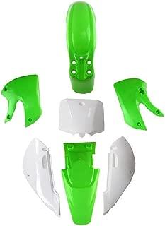 Fender Kit Fairing for Pit Bike Dirtbike KLX/DRZ 110 KLX110 KX65 Plastic Fender (Green/White)