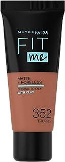 Maybelline New York Fit Me Matte Poreless Foundation - 352 Truffle, 30 ml (3600531395551)