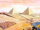 Pintura de diamante 5D Arte de la pirámide egipcia Taladro completo Cuentas cuadradas Kits de pintura de diamante para adultos Cristal Gems Arte de pared Decoración del hogar 40x50 cm