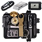 ECHI Survival Kit, EDC Outdoor Emergency Tactical Survival Tool for Boy Scout Camp, Cars, Camping, Hiking, Hunting, Adventure Accessories (13 in 1)