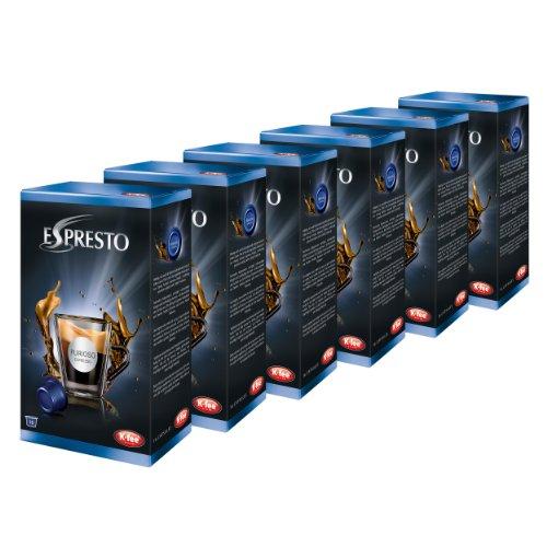 K-Fee Espresto Espresso Furioso, Kaffee, Arabica, Intensität 8, 6er Pack, 6 x 16 Kapseln