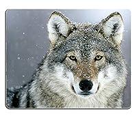 カスタムパトールオオカミ雪アンチスリップコンフォートゲーミングマウスパッド-耐久性のあるオフィスアクセサリーギフト