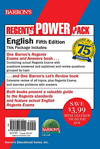 Regents English Power Pack: Let's Review English + Regents Exams and Answers: English (Barron's Regents NY)