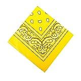 I LOVE DIY Bandana avec Motif Paisley en coton (jaune clair)