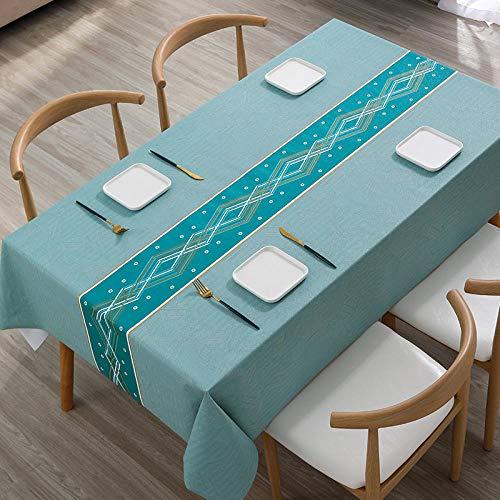 Kuingbhn Mantel de Tela Impermeable Antimanchas Arte Resistente Al Desgaste y Duradero Disponible en Varias Medidas Azul a 90×140cm