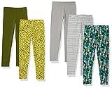 Amazon Essentials Leggings, Paquet de 5 Papillons Floraux Chauds, 4 Ans