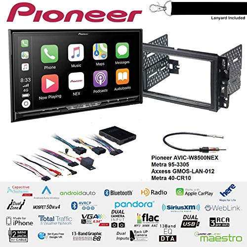 Best Bargain Pioneer AVIC-W8500NEX 6.94 DVD Navigation Receiver with Wireless Apple CarPlay and And...
