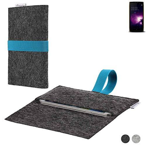 flat.design Handy Hülle Aveiro für Doogee S50 passgenaue Filz Tasche Case Sleeve Made in Germany