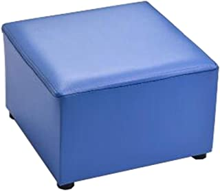 Alien Storehouse Tabouret à la Mode Faux Cuir Moderne Petit Tabouret Table Tabouret Tab Ottoman Tabouret,Bleu
