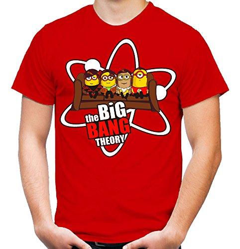 Big Bang Minions Sofa T-Shirt | Big Bang Theory | Fun | rot (XXL)