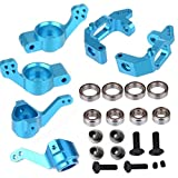 steering knuckle tornado epx - ShareGoo Aluminum Steering Knuckle Hub Mount Upgrade 102010 102011 102012 Part Set for HSP 1/10 RC Volcano EPX Monster Model Car Truck, Blue