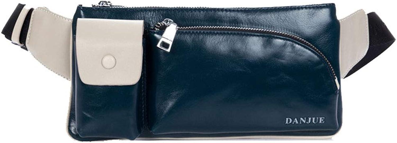 Men's Waist Pockets, Fashion Leather Shoulder Bag, Outdoor Multi-Function Crossbody Bag, Casual Chest Bag, Waist Bag