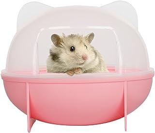 【Tona】ハムスタートイレ ハムスターハウス バスルーム 脱臭トイレ 清潔トイレ ラスチックケージ 砂の部屋 シャベル付き ピンク