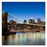 Bilderwelten Fotomural - Brooklyn Bridge in New York - Mural cuadrado papel pintado fotomurales murales pared papel para pared foto 3D mural pared barato decorativo, Dimensión Alto x Ancho: 240cm x 240cm