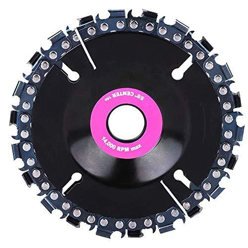 CareMont Amoladora de 4 Pulgadas Disco de Tallado de Madera Motosierra Rueda de Molienda Hoja de Cadena Forma de Placa Circular con 22 Dientes Finos