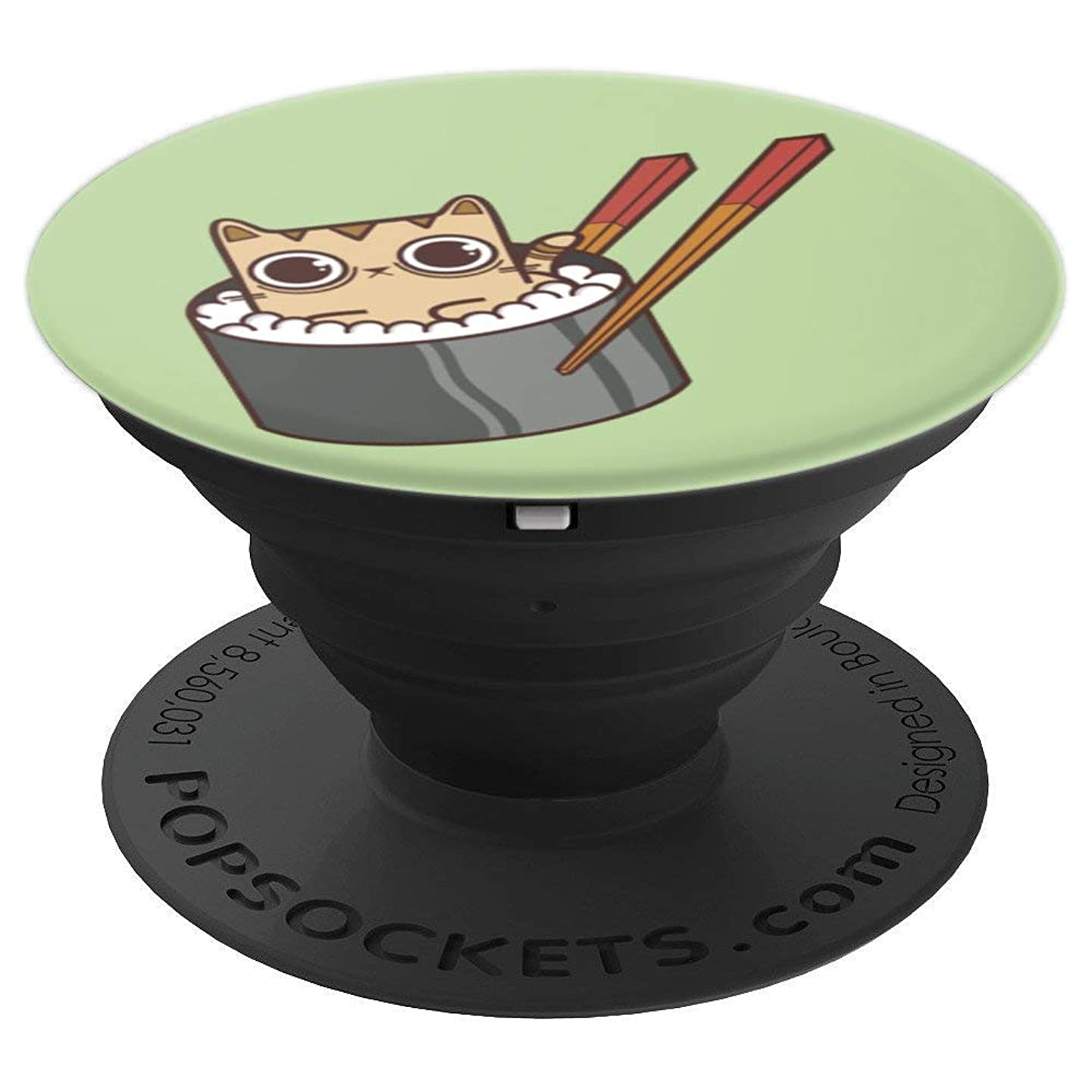 Kawaii Cute Sushi Cat by Fudo Cats - PopSockets Grip and Stand for Phones and Tablets