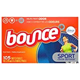 Bounce for Men Pure Sport Fabric Softener Dryer Sheets, 105 Count