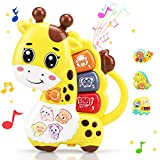 STEAM Life Baby Piano Giraffe Toy - Baby Musical Toy - Light Up Baby Toy for Infant 12 Month + Developmental - Educational Baby Keyboard Toy has 5 Numbered Keys (Smart Baby Giraffe Piano)