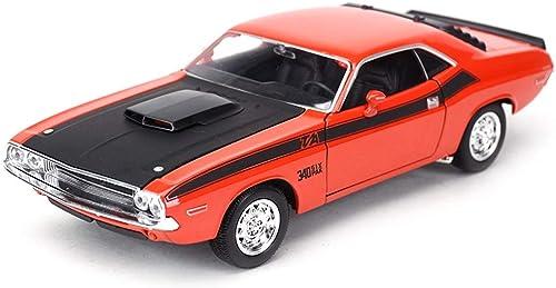 IVNZEI Modèles d'alliage Voitures 1 24 Dodge 1970 Challenger Original Style Collectionneurs moulés sous Pression Modèle de décoration de Voiture Artisanat (Couleur   Orange)