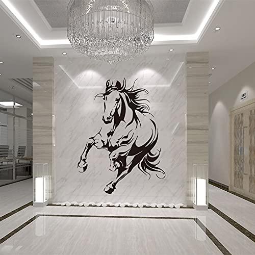 Mustang Vinile Wall Sticker Soggiorno Decorazione Della Casa Tema Animale Intaglio Sfondo Adesivo A1 56x75 cm