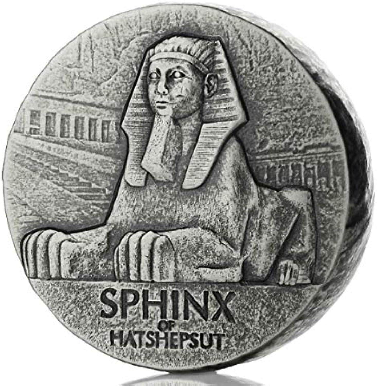 Egyptian Relic Series 2019 Sphynx of Hatshepsut Sfinge Republic of Chad 5 oz (156 gr.) Silber 999 Münze Kollektion Silber Coin in Original Box Schmuck