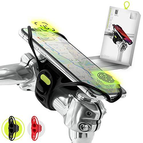 Bone Collection Pro 4 (Gen 4) Face ID kompatibel Fahrrad Handyhalterung für den Vorbau 4,7-7,2 Zoll Smartphones, Ultra leichtes Gewicht Rad Smartphonehalter, Designed für Straßen, Renn & Tourenräder
