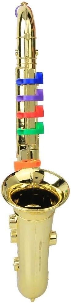 8 Keys Toy S-Saxophone Toy Mini Saxophone Saxophone Musical Instrument Adornment Enthusiast Decoration for Children Rosvola Child Saxophone Silver