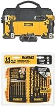 DEWALT DCK280C2 20-Volt Max Li-Ion 1.5 Ah Compact Drill and Impact Driver Combo Kit w/ DW1354 14-Piece Titanium Drill Bit Set