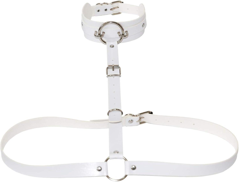Ccai Jewelry Black Body Chain Vegan Leather Harness Goth Bondage Chest Accessories Harajuku Punk Rock Gothic Jewelry