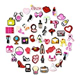 50Pcs PVC Shoe Charms for Croc Decoration, Makeup Shoe Charms for Wristbands Bracelet,Clog Shoes Accessories for Women Kids Girls Party Favors Birthday Gifts