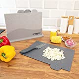 Blackmoor Home 66939 Set Of 4 Chopping Boards / Index Style For Preparation Of Vegetables, Meats, Fish & Pre-Cooked Foods / Non-Slip With Granite Effect Finish / Dishwasher Safe / 27cm x 18cm