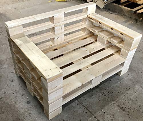 Palettenmöbel ~ Lounge Sofa aus gehobelten Vollholz Möbelpaletten ~ Palettensofa