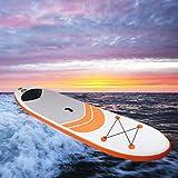 SALUTUYA con Bolsa de Almacenamiento Tabla de Surf de PVC, para Yoga acuático para Principiantes para deslizarse en Agua Blanda(Orange (305 * 76 * 15cm))