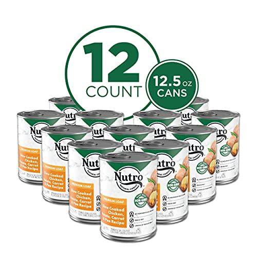NUTRO Kitchen Classics Adult Wet Dog Food, Slow Cooked Chicken, Rice & Oatmeal Dinner Premium Loaf Canned Food 12.5 Ounce Cans (Pack of 12); Rich in Nutrients and Full of Flavor; Supports Healthy Digestion & Healthy Skin and Coat