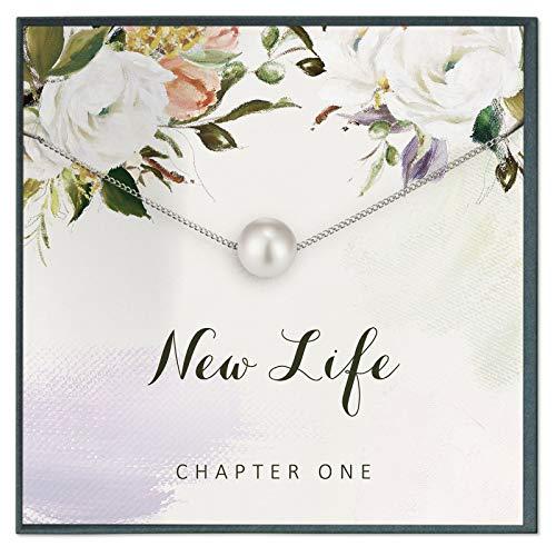 Grace of Pearl Collar inspirador, regalos de aliento, nueva vida, regalos de divorcio, regalos de sobriedad, regalos AA, capítulo uno, regalos de animación, regalo de cirugía